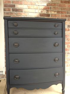 Full picture of my refinished dresser.