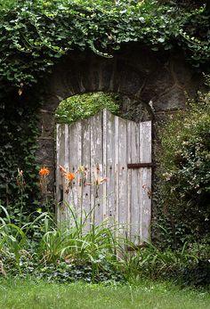 Old weathered garden gate!