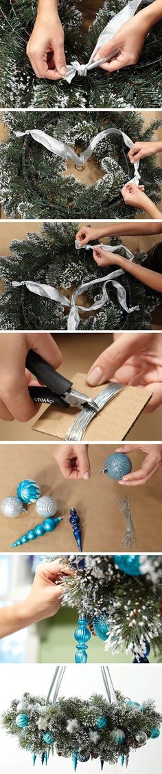 How To Make a Wreath Chandelier