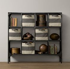 Foundry Metal Cubby System - Wide | Bookcases | Restoration Hardware Baby & Child