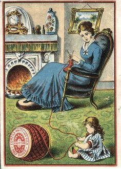 EUREKA Knitting Silk for Hand Knitting Victorian Trade Card