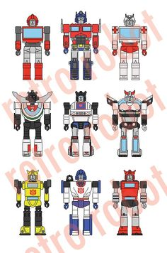 transformers and pixelated <3