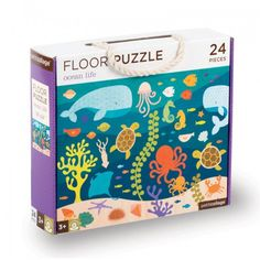 Petit Collage Ocean Life floor puzzle. Big pieces are easy for little hands to handle.