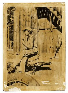 Citation: Jackson Pollock in undershirt sitting outside, ca. 1928 / unidentified photographer. Jackson Pollock and Lee Krasner papers, Archi...