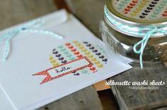 Silhouette Washi tape card idea