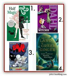 book lists, julia bookbag, chapter book, kid