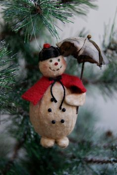 Snow Lady Christmas Ornament Named Singing In The Snow by joleecaldwell, $19.00