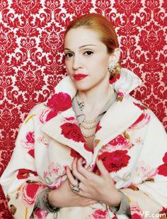 Madonna as Eva Peron, Vanity Fair, November 1996. Photo by Mario Testino. ☀