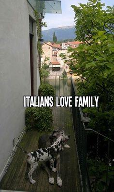 Italians LOVE family
