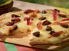 Four Cheese Pizza with Fig and Prosciutto Recipe : Food Network - FoodNetwork.com