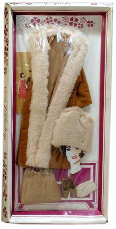 1962 Remco, Lisa Littlechap Fur Coat Ensemble (Unsold Store Stock)