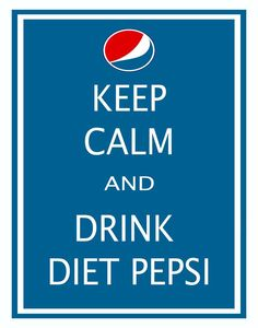 Diet Pepsi to start the day!