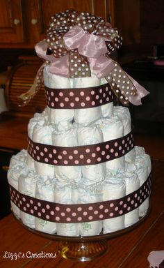 Lizzi's Creations: How To Make A Diaper Cake