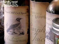 Harry Potter Party--veritaserum, pumpkin juice, liquid luck and more.