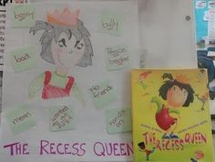 To use with the book The Recess Queen (which I love!)