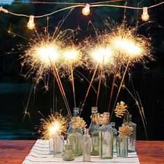 Sparklers for the 4th of July!!! Bebe'!!! Really great tradion......sparklers!!!