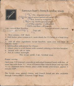 Remember this? Famous-Barr's French Onion Soup, a favorite in St. Louis for decades.
