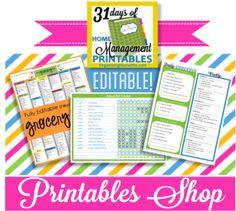 Free home management binder printables