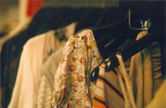 """""""#Hannah prints and colors inspired by vintage clothes on hangers"""" -Jenn Rogien"""