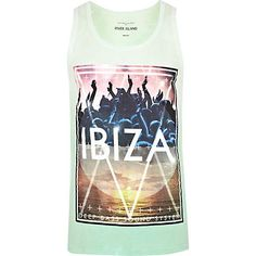 Light green Ibiza print tank - t-shirts / tanks - sale - men