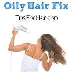 Quick Oily Hair Fix - Simple, inexpensive home method to degrease that oily hair.