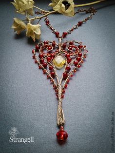 *jaw drops* lovely beaded and twisted heart
