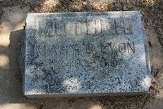 ombstone Tuesday: Mary Cornelius Hitchcock Lyon #genealogy #familyhistory