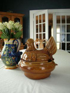 California Pottery Hen