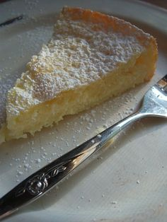 Lemony cream butter cake.  Yes please!!