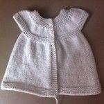 Patron d'une petite robe au tricot