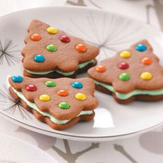 Gingerbread Cookies Recipes from Taste of Home, including Gingerbread Sandwich Trees Cookies Recipe