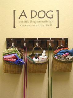 organizing pet stuff