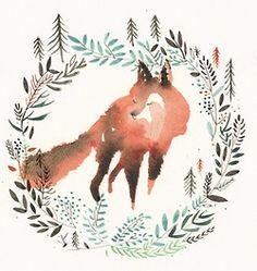 aquarelle.. Foxi, Fox Watercolor, Art, Inspir, Watercolor Fox, Tattoo, Foxes, Design, Illustr