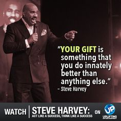 What is YOUR gift? Tune in Wednesday for this UP exclusive, one-night only event as Steve Harvey brings his perfect blend of comedy and insight to the stage.