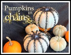 Chain Covered Pumpkins from The V Spot. Fun!