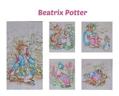 Telas infantiles: ilustraciones de Beatrix Potter.