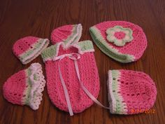 Cuddle Sac and Hats for Preemie ~Inspiration