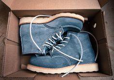 Slate Blue Moc Toe's
