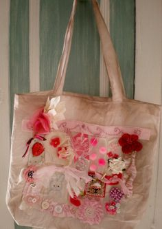 Pink Strawberry Pochette by cinderellamoments on Etsy, $24.95