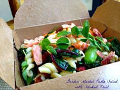 Gone Fishing! Try this Garden Market Pasta Salad with Smoked Trout.