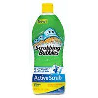 Scrubbing Bubbles Scrubbing Bubbles Active Scrub, Citrus, 24 Fluid Ounce by Scrubbing Bubbles. $4.48. Effectively cleans porcelain, ceramic, stainless steel, granite, corian , plastic laminate, glass, and chrome in the bathroom, kitchen, and other areas throughout the home. Use in the bathroom on toilets, tubs, and tiles, on countertops and kitchen sinks, stoves and other appliances. Cuts through tough soap scum and cleans rust, hard water stains, limescale, greasy ...