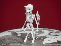 Imp Skeleton 3D Print Taxidermy Sculpture by MythicArticulations, $50.00