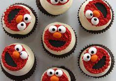 Elmo Birthday Cake and Cupcake Decorating Ideas