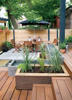 Water features on pinterest backyard waterfalls garden - Amenagement petit jardin de ville ...