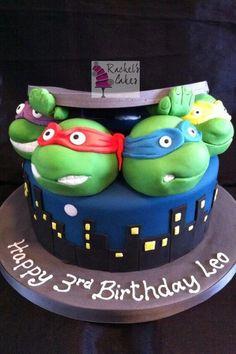 ninja turtle birthday | Ninja turtle cake | Birthday Ideas