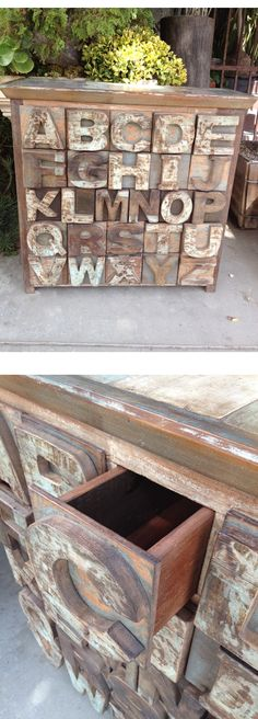 ABC's    Chest of 26 Drawers