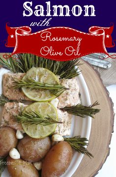 Salmon with Rosemary Olive Oil #STAROliveOil #shop #cbias