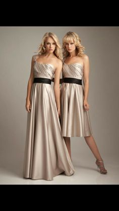 Dark champagne bridesmaid dress