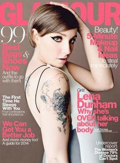 Lena Dunham, Glamour  www.trendencias.com