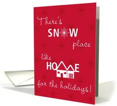 Christmas New Address Announcement Snow... | Greeting Card Universe by Penny Cork